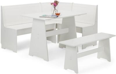 Julian Bowen Newport Surf White Corner Dining Set