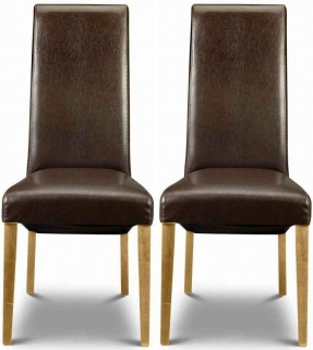 Julian Bowen Jazz Green Faux Leather Dining Chair Stacking Chair Pair J