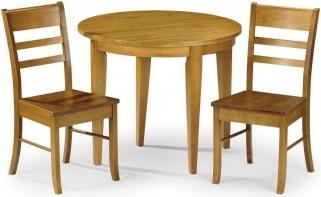 Julian Bowen Consort Dining Set - Flip Top with 2 Chairs