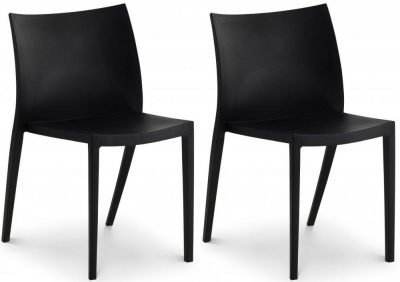 Julian Bowen Fresco Black Indoor Outdoor Stacking Dining Chair - (Pair)