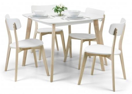 Julian Bowen Casa White Oak Dining Set with 4 Chairs