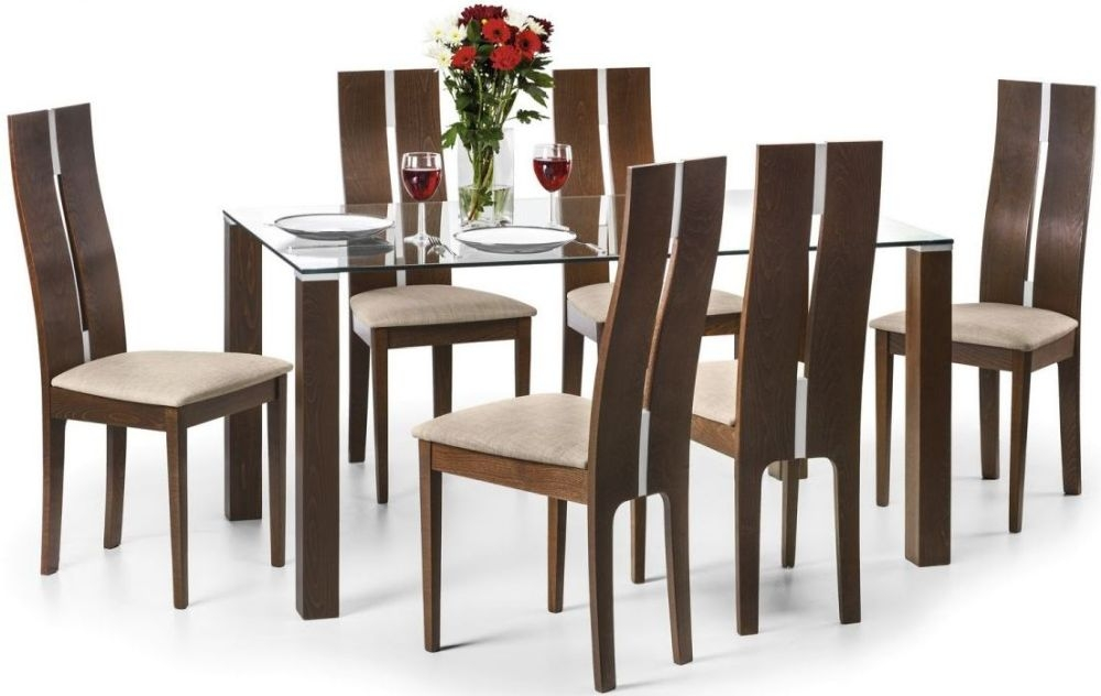 Julian Bowen Cayman Dining Set - 150cm Rectangular Fixed Top with 6 Chairs