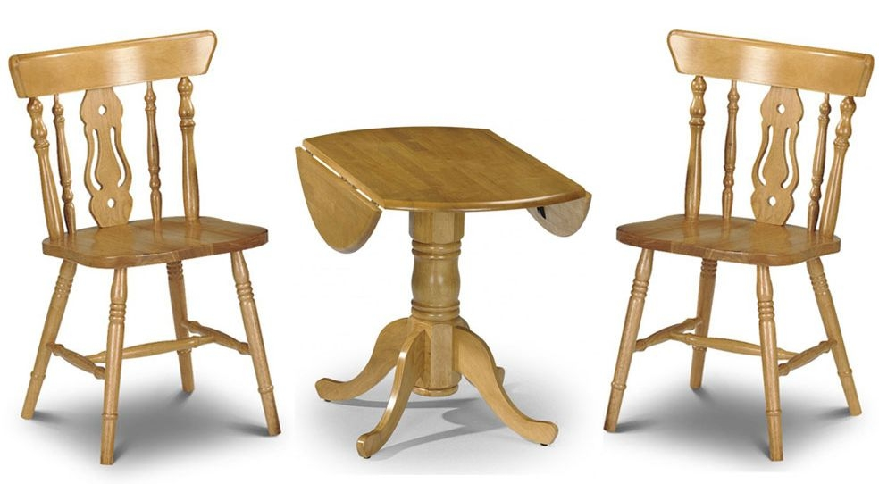 Julian Bowen Dundee Dining Table with 2 Yorkshire Fiddleback Chair