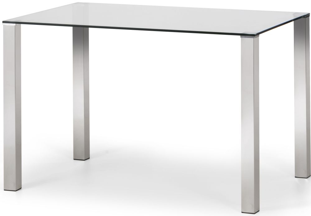 Julian Bowen Enzo Dining Table - Glass and Ghrome