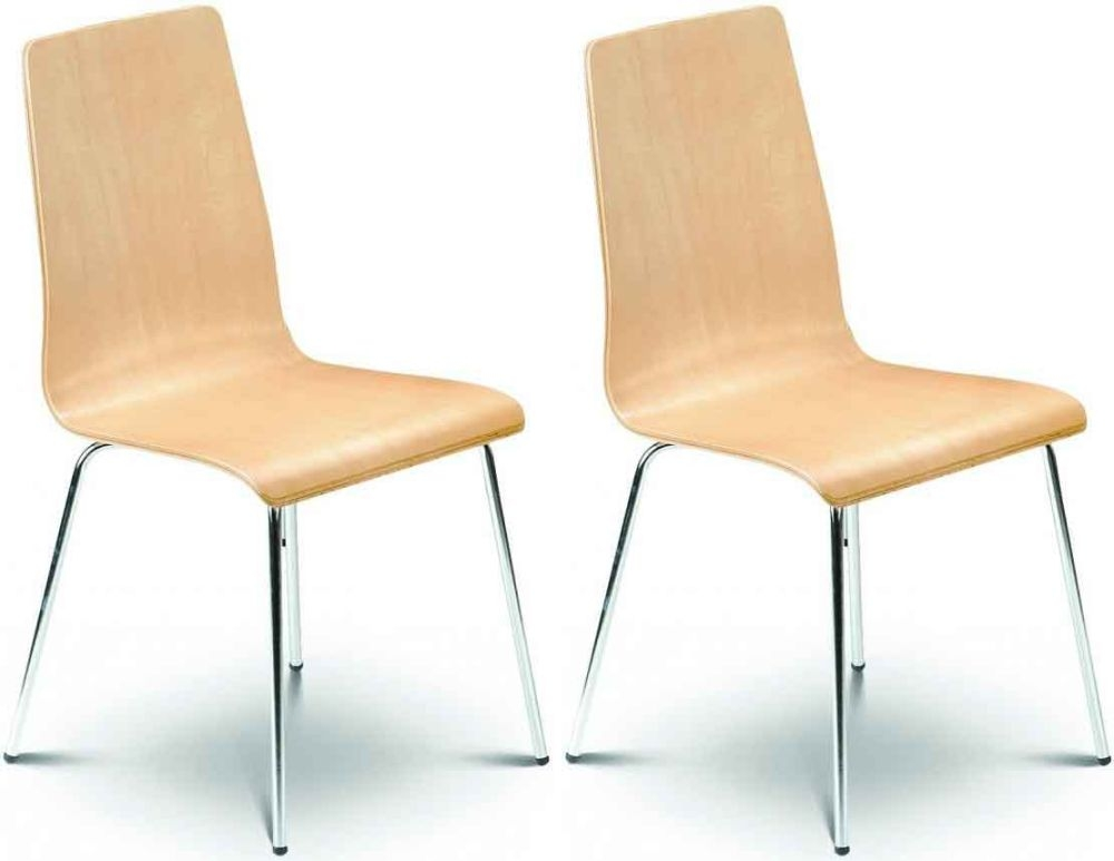 Julian Bowen Mandy Maple Dining Chair (Pair)