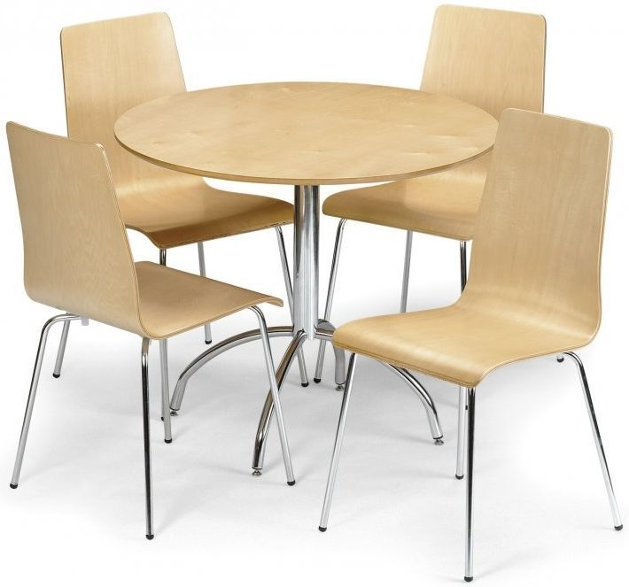 Julian Bowen Mandy Maple Dining Set - with 4 Chairs