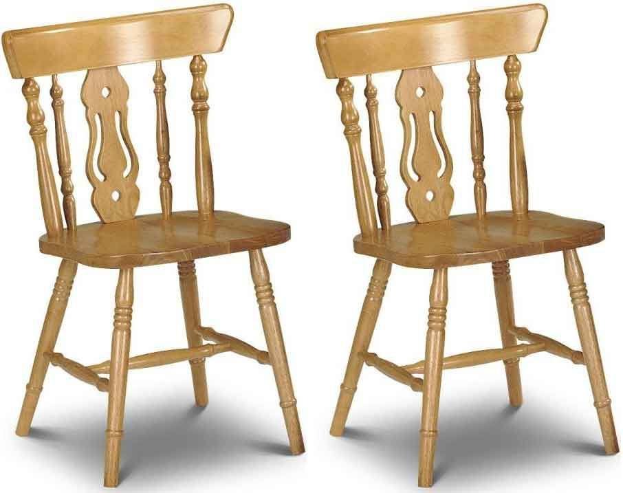 Buy julian bowen yorkshire fiddleback dining chair pair