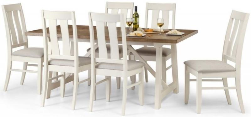 Julian Bowen Pembroke Oak Rectangular Dining Set with 6 Chairs - 180cm