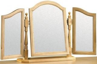 Julian Bowen Pickwick Pine Mirror - Triple