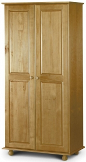 Julian Bowen Pickwick Pine Wardrobe - 2 Doors All Hanging