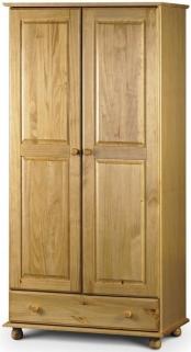 Julian Bowen Pickwick Pine Wardrobe - Combination 2 Doors 1 Drawer
