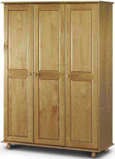 Julian Bowen Pickwick Pine Wardrobe - Fitted 3 Doors