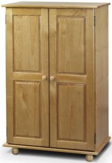 Julian Bowen Pickwick Pine Wardrobe - Short All Hanging 2 Doors