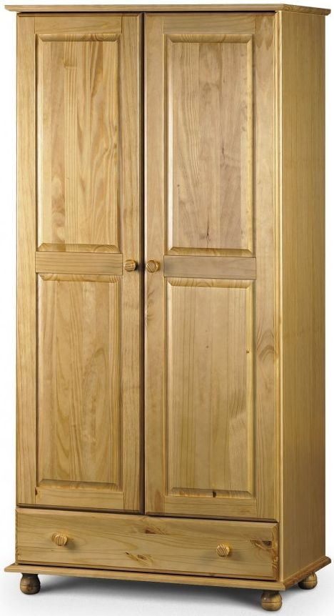 Julian Bowen Pickwick Pine Wardrobe - Combination 2 Doors 1 Drawer