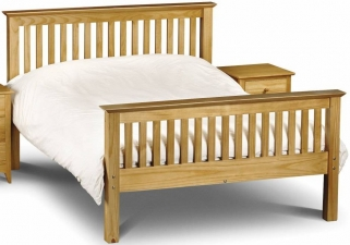 Julian Bowen Barcelona Pine Bed - High Foot End