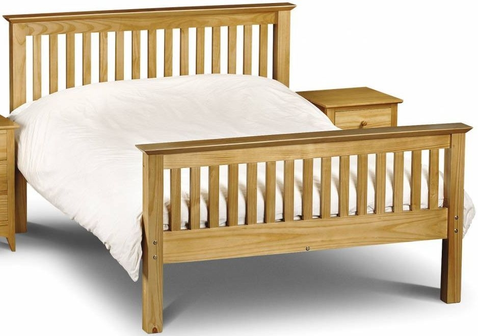 Julian Bowen Barcelona Pine High Foot End Bed