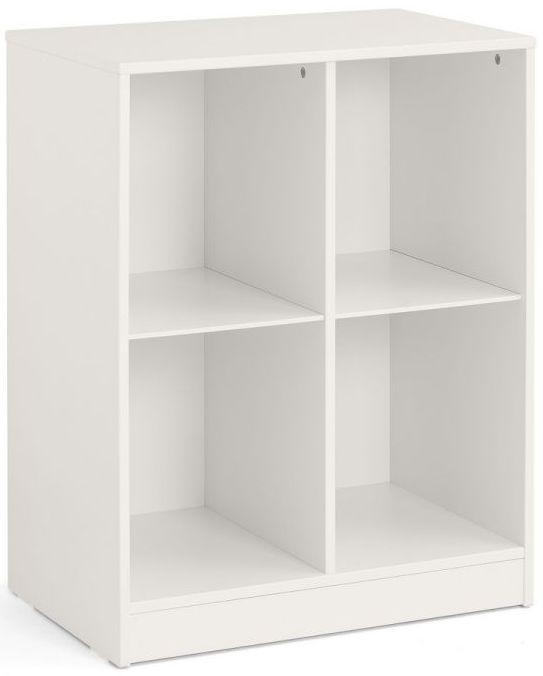 Julian Bowen Pluto Stone White Cube Bookcase