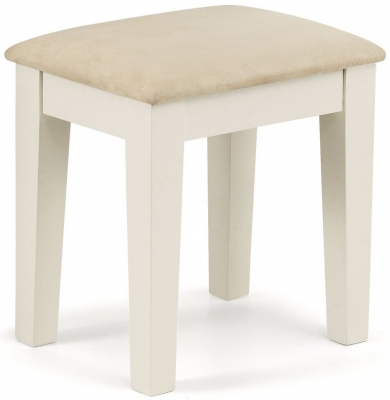 Julian Bowen Portland Oak and White Dressing Stool