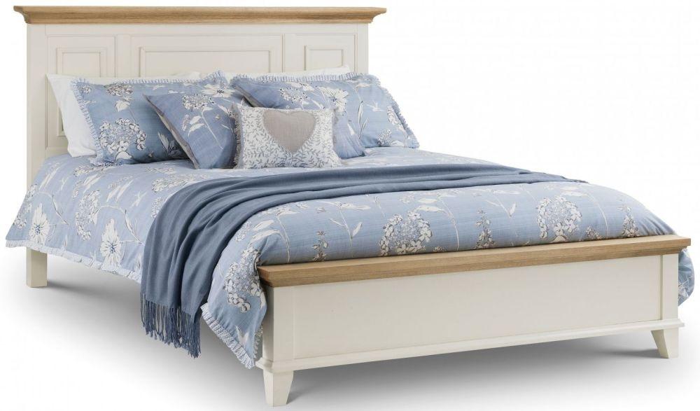 Julian Bowen Portland Bed - Oak and White