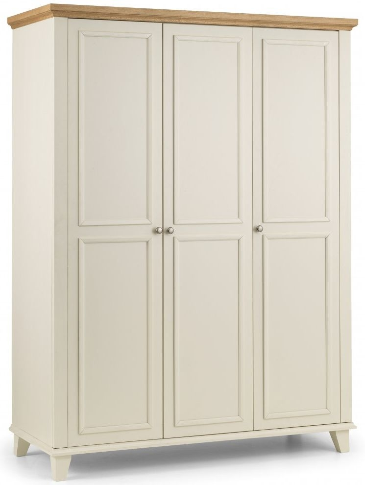 Julian Bowen Portland Painted Triple Wardrobe - 3 Door