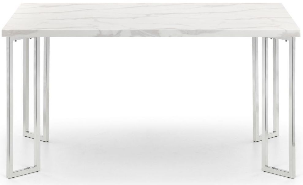 Julian Bowen Positano White Marble Dining Table