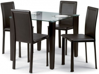 Julian Bowen Quattro Dining Set - with 4 Chairs