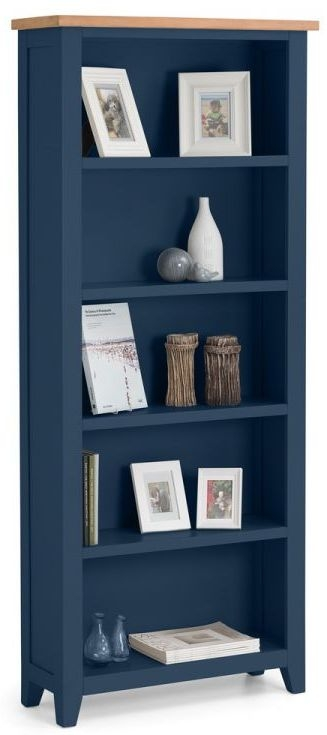 Julian Bowen Richmond Bookcase - Oak and Blue