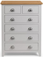 Julian Bowen Richmond Grey Painted 4+2 Drawer Chest