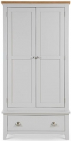 Julian Bowen Richmond Grey Painted 2 Door 1 Drawer Double Wardrobe