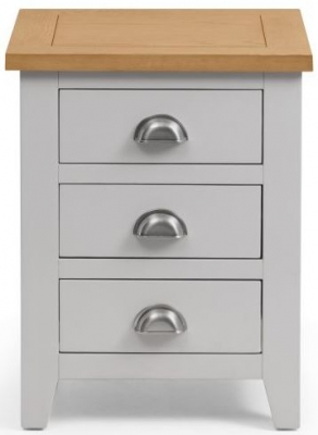 Julian Bowen Richmond Oak and Grey 3 Drawer Bedside Cabinet