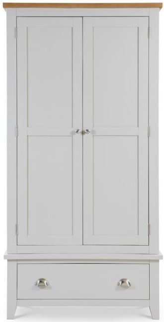 Julian Bowen Richmond 2 Door 1 Drawer Wardrobe - Oak and Grey