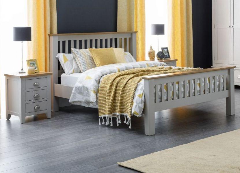 Julian Bowen Richmond Oak and Grey Bed