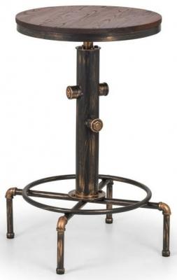 Julian Bowen Rockport Brushed Copper Bar Table