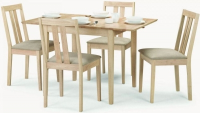 Julian Bowen Rufford Extending Dining Table and 4 Chairs