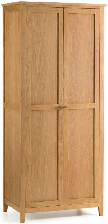Julian Bowen Salerno Oak 2 Door Double Wardrobe
