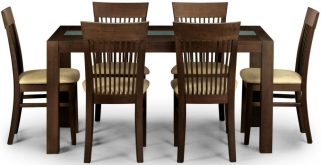 Julian Bowen Santiago Wenge Dining Set - with 6 Chairs