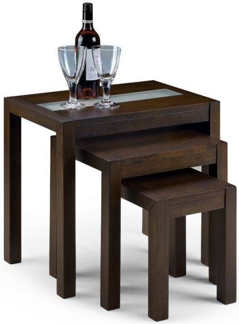 Julian Bowen Santiago Wenge Nest of Tables