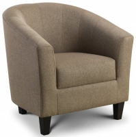 Julian Bowen Hugo Linen Fabric Tub Chair