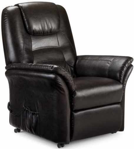 Julian Bowen Riva Brown Faux Leather Rise and Recliner Chair