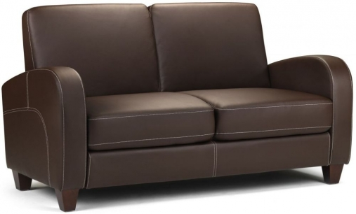 Julian Bowen Vivo Brown Faux Leather 2 Seater Sofa