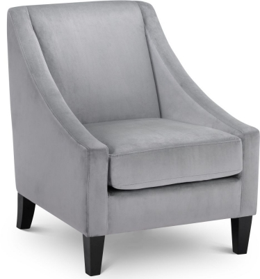 Julian Bowen Maison Slate Grey Velvet Chair