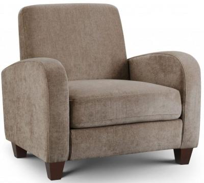 Julian Bowen Vivo Mink Chenille Chair