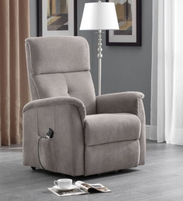 Julian Bowen Ava Rise and Taupe Recliner Chair
