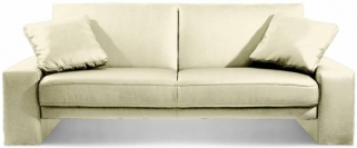 Julian Bowen Supra Oyster Faux Leather Sofa Bed