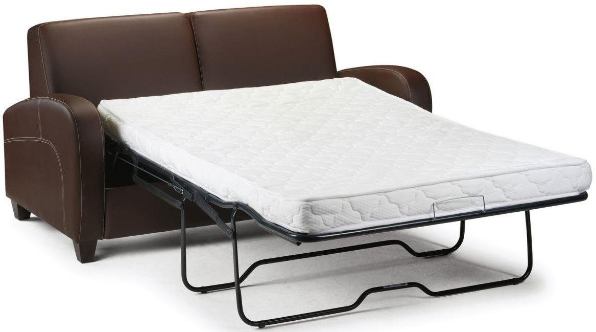 Julian Bowen Vivo Brown Faux Leather Sofa Bed
