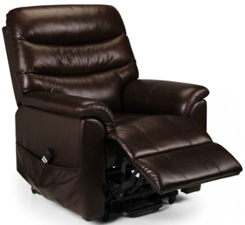 Julian Bowen Pullman Brown Leather Recliner Chair