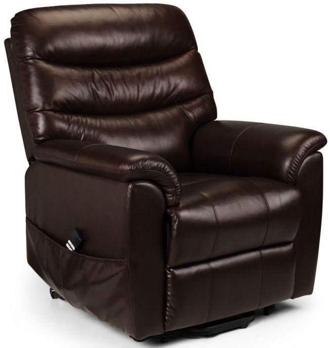 Julian Bowen Pullman Brown Leather Recliner Chair