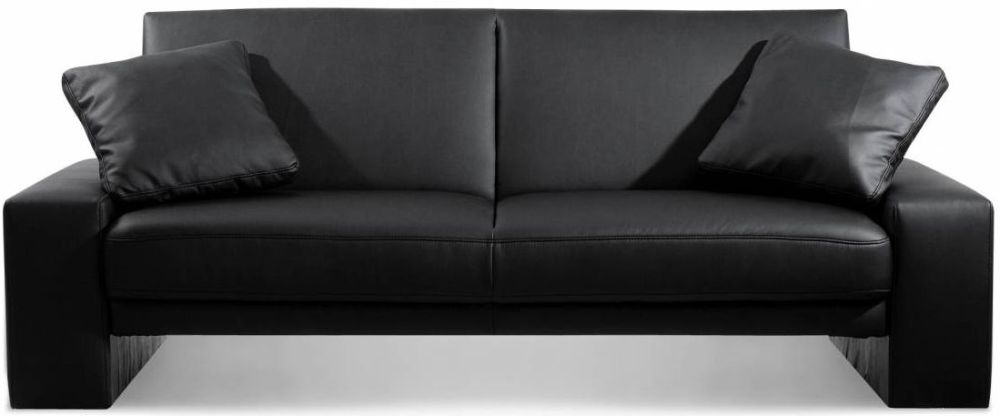Julian Bowen Supra Black Faux Leather Sofa Bed
