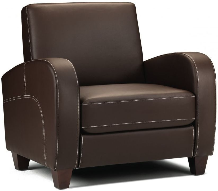 Julian Bowen Vivo Brown Faux Leather Armchair