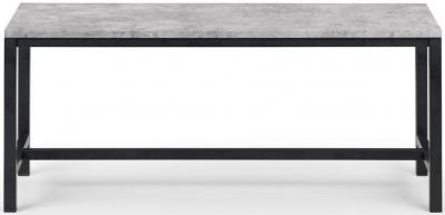 Julian Bowen Staten Faux Concrete Dining Bench